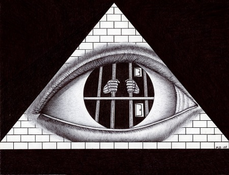 all knowing prison eye ARTWORK